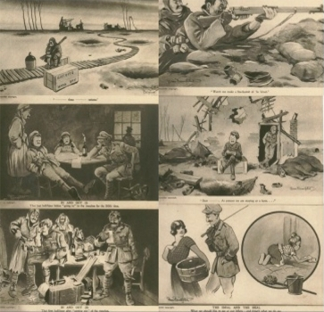 All of Bairnsfather's early 'Fragments' cartoons appeared on postcards and were sold in sets of six