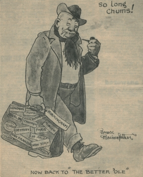 Bruce Bairnsfather's last published cartoon
