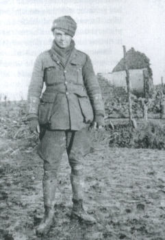 Bruce Bairnsfather during the Christmas Truce at St Yvon in 1914