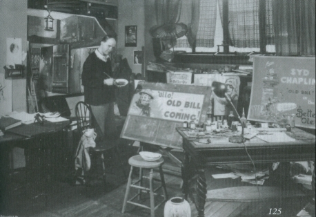 Bruce Bairnsfather in his studio in New York in 1926
