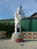The Pipers Memorial at Longueval on the Somme Battlefield