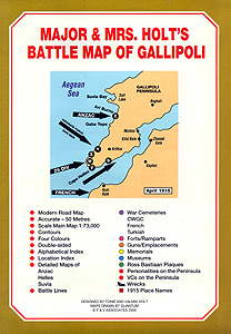 THE BATTLE MAP OF GALLIPOLI