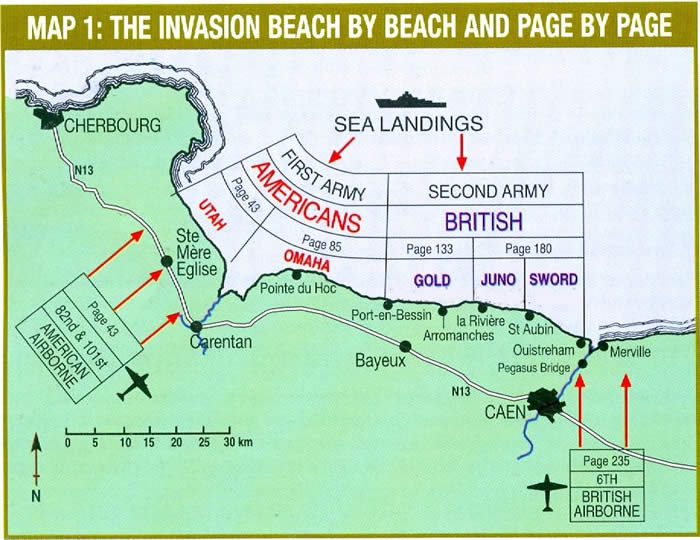 Inside the Holt's 6 June 1944 D Day Landing Beaches Guide Book on