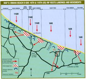 OMAHA Beach 16th and 116th US Inf Regiments Landings & Movements